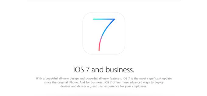 苹果对企业主也有野心:iOS 7发布一系列针对企业用户的新功能